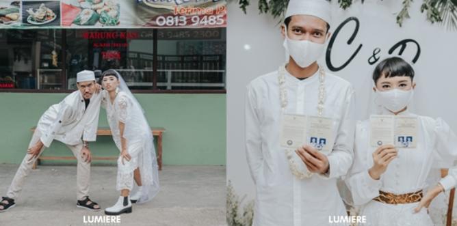 Viral Pernikahan Santai ala Reza dan Cica. Baju Jahit Sendiri dan Pakai Sandal Gunung On Point!