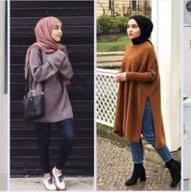 Kumpulan Foto OOTD dengan Sweater Minimalis Buat Hijabers. Pas Buat Musim Hujan!